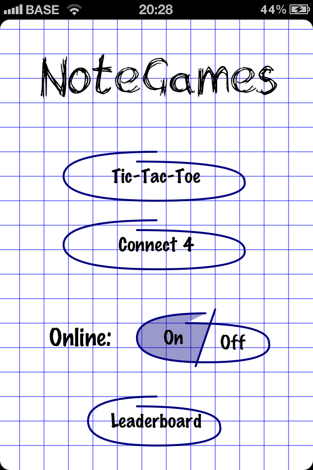 Screenshot NoteGames