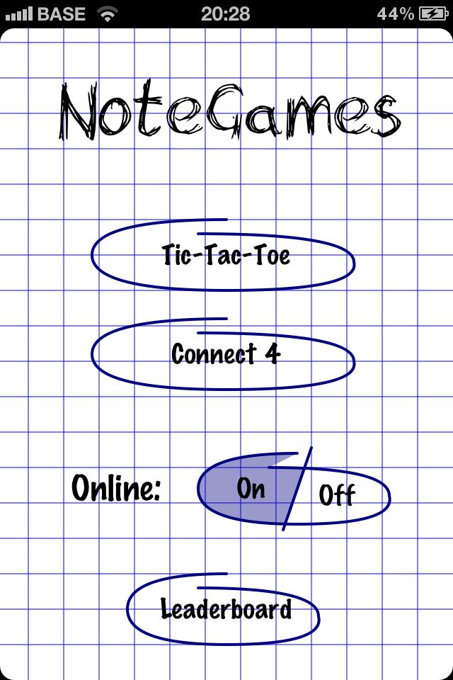 Screenshot NoteGames